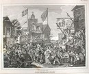 Hogarth Engraving Dated 1838 SOUTHWARK FAIR
