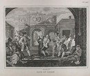 Hogarth Engraving Dated 1838 GATE OF CALAIS