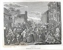 Hogarth Engraving 1838 March to Finchley