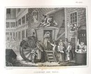 Hogarth Engraving Dated 1838 COUNTRY INN YARD