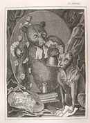 Hogarth Engraving Dated 1838 THE BRUISER