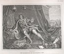 Hogarth Engraving Dated 1838 MR GARRICK IN