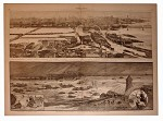 Harpers 1867 Lithograph Cincinnati Flood and Louisville