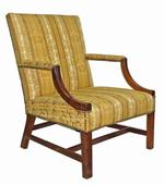 George III Mahogany  Library Arm Chair 18th Century