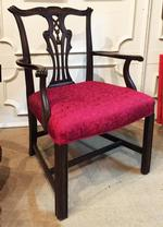 Chippendale Style Carved Mahogany Armchair